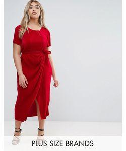 Club L Plus | Платье Плиссе С Поясом