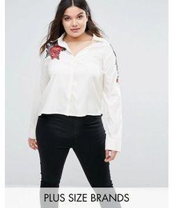 Boohoo Plus | Рубашка С Вышивкой