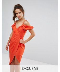 Ginger Fizz | Платье С Запахом Открытыми Плечами И Асимметричным Краем