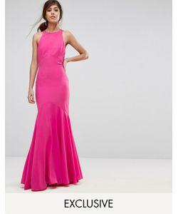 JARLO | Платье Макси С Бантом На Спине И Подолом Годе