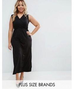 Club L | Платье Макси С Запахом Спереди Plus Essentials