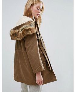 Parka London | Парка 3 В 1 С Подкладкой В Виде Куртки-Пилот