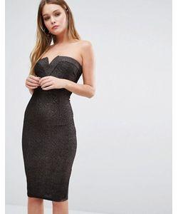 AX Paris   Платье Бандо Из Ткани С Блестками