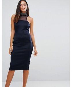 AX Paris   Облегающее Платье С Декоративной Отделкой Горловины