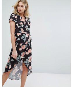 Oh My Love | Асимметричное Платье С Запахом И Оборкой
