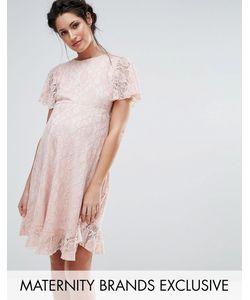 Queen Bee | Кружевное Платье С Оборкой На Кромке