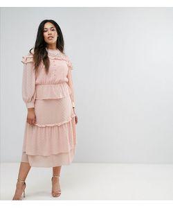Truly You   Многоярусное Платье Миди С Кружевной Вставкой Victoriana