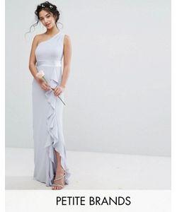 TFNC Petite | Платье Макси На Одно Плечо С Рюшами Wedding