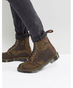 Dr. Martens | Камуфляжные Ботинки С 8 Парами Люверсов Made In England
