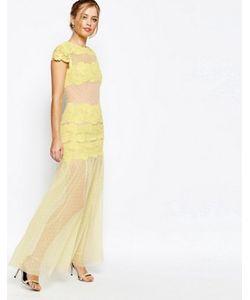 JARLO | Платье Макси С Кружевными Вставками