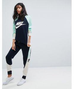 Nike | Трикотажные Брюки Колор Блок
