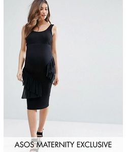 ASOS Maternity   Облегающее Платье С Оборками