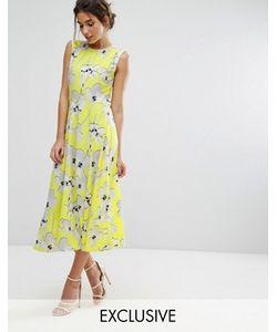 Every Cloud   Платье Миди С Цветочным Принтом