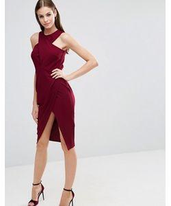 Asos | Облегающее Платье-Футляр Миди С Лифом Из Крепа