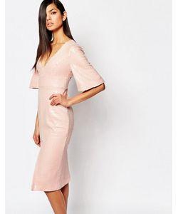 8th Sign | Нарядное Платье-Футляр С Глубоким Вырезом И Пайетками The Luxe