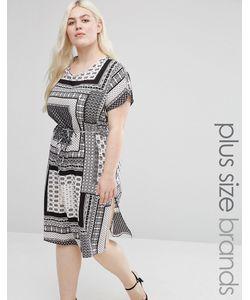 Koko | Цельнокройное Платье С Принтом И Разрезами По Бокам Plus