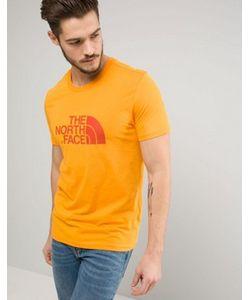 The North Face | Свободная Оранжевая Футболка С Большим Логотипом
