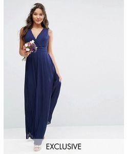 TFNC | Платье Макси С Запахом И Складками Wedding