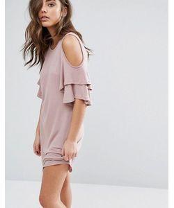 Miss Selfridge | Свободное Платье С Открытыми Плечами И Оборками