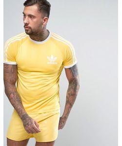 adidas Originals | Желтая Футболка В Стиле Ретро Cf5305