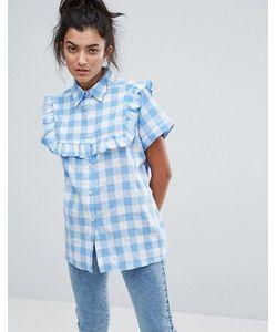 Lazy Oaf | Рубашка В Клеточку С Рюшами