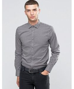Sisley | Рубашка Узкого Кроя В Мелкую Клеточку