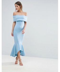 Club L | Платье С Открытыми Плечами И Баской