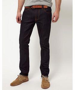 Nudie Jeans Co | Зауженные Джинсы Из Сухого Органического Денима Со Строчкой Nudie Jeans