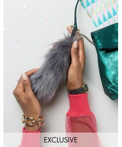 My Accessories | Faux Fox Tail Keyring In