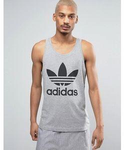 adidas Originals | Серая Майка С Логотипом-Трилистником Bk7093