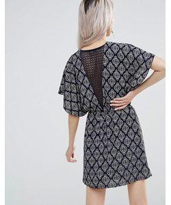 Wal G | Платье С Кружевом Сзади