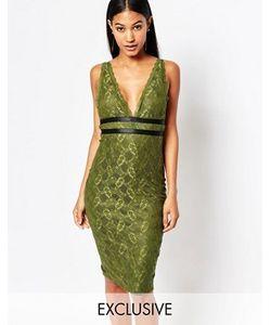 NaaNaa | Кружевное Платье-Футляр С Лямками