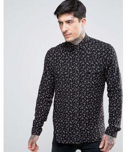 Asos | Рубашка Классического Кроя В Стиле Вестерн С Цветочным Принтом