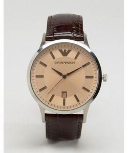 Emporio Armani | Коричневые Часы С Кожаным Ремешком Ar2427
