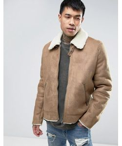 Asos | Куртка С Искусственной Овечьей Шерстью