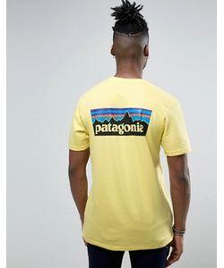 Patagonia | Желтая Футболка Классического Кроя С Логотипом На Спине P-6