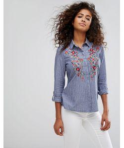 Esprit | Рубашка С Цветочной Вышивкой