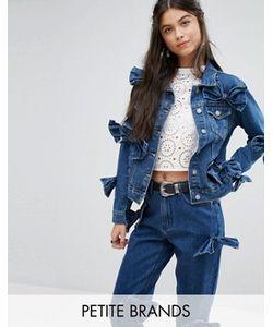 Glamorous Petite   Джинсовая Куртка С Бантом