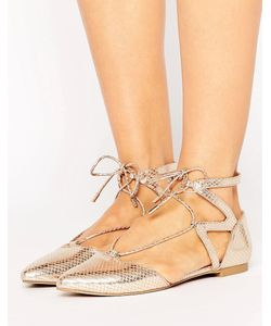 Call It Spring | Блестящие Туфли На Плоской Подошве С Вырезами Ikie