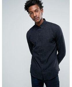 Troy | Рубашка Слим В Крапинку С Закругленным Воротником