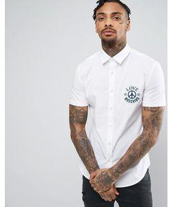 Love Moschino | Узкая Рубашка С Логотипом И Символом Мира