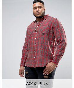 Asos | Рубашка Классического Кроя В Клетку Тартан Plus