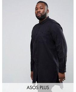 Asos | Очень Длинная Рубашка Из Саржи Plus