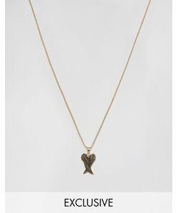 Seven London | Золотистое Ожерелье С Подвеской Эксклюзивно Для