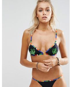 Jaded London | Sequin Cactus Triangle Bikini Top