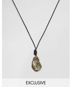 Seven London | Ожерелье Из Черного Шнурка И Камня Эксклюзивно Для