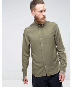Asos | Рубашка Классического Кроя Из Вискозы Цвета С Эффектом Кислотной Стирки