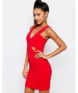 Lipsy | Облегающее Платье В Рубчик С Вырезами Ariana Grande For