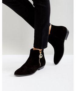Love Moschino | Ботинки На Плоской Подошве С Молнией