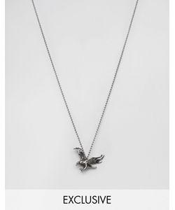 Seven London | Серебристое Ожерелье С Подвеской В Виде Орла Эксклюзивно Для